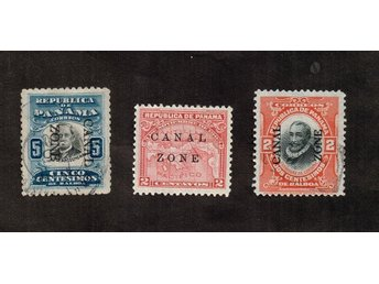Panama.  stamps, , printed CANAL ZONE, 1904 - 1912 RARE