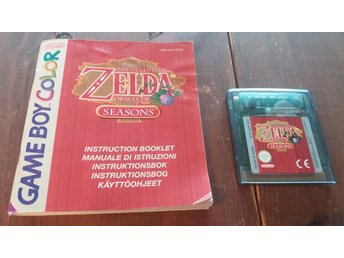 The Legend Of Zelda Oracle Of Seasons - Med Manual - GBC