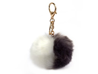 Nya Ladies Fashion Fur Fluffy Bag Charms Kvinnor Handväska Charm Nyckeln Ny Sty