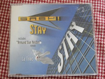 Sash! Stay CD Maxi Single 1997 inc. Armand van Helden remix feat. La Trec