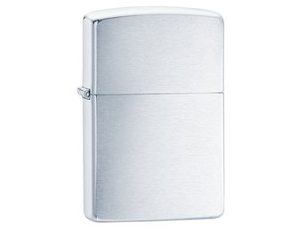 Tändare Zippo original i borstad metall (Brushed Chrome) - 1-2 dagars levtid