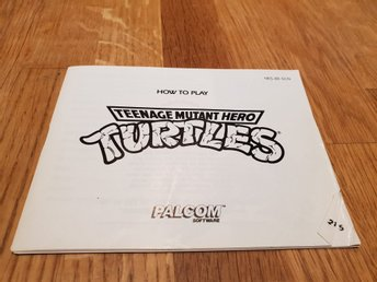 Turtles SCN Manual Nintendo 8-bit NES