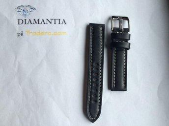 18 mm -- NYTT -- klockarmband i äkta läder -- Svart -- skinn armband strap - Boliden - 18 mm -- NYTT -- klockarmband i äkta läder -- Svart -- skinn armband strap - Boliden
