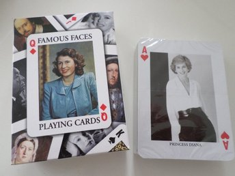 KORTLEK. SPELKORT. FAMOUS FACES. PLAYING CARDS.