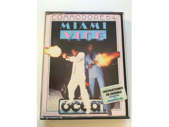 Miami Vice till Commodore C64 - kassett - 1984
