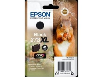 Epson Singlepack Black 378XL Claria Photo HD Ink