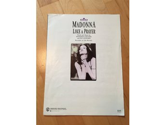 Madonna Like A Prayer sheet music noter