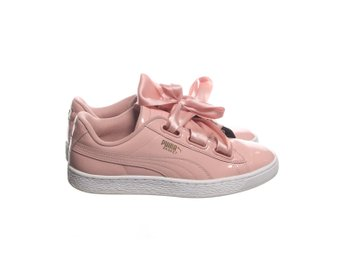Puma, Sneakers, Strl: 40, Basket Heart Patent, Rosa, Skinnimitation