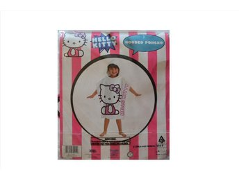 Hello Kitty Bad Poncho med Huva