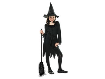 8-10 år HÄXA Halloween LIL WITCH Dress Häxklänning 128-140cm Witch