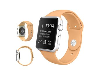 Armband för Apple Watch 42mm - Gummi (Beige)