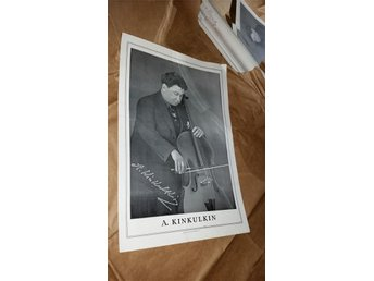 Poster of A. Kinkulin playing his Cello. Member of Burgin String Quartet 1918