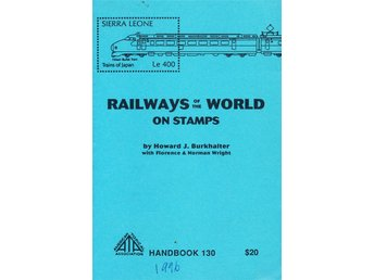 Tågkatalog Railways on stamps Handbook 130  1996  266 sidor