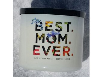 BEST MOM EVER Fresh cut lilacs Bath & Body Works 3-wick Candle mamma USA doft