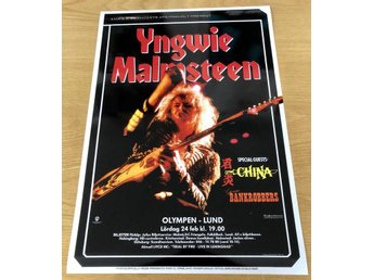 YNGWIE MALMSTEEN OLYMPEN LUND 1990 PHOTO POSTER