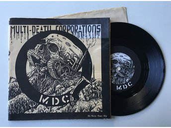 "MDC ""Multi Death Corporations"" 1983 RARE ANARCHO Crass"