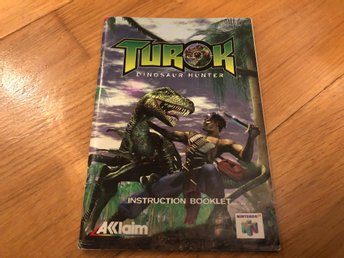 Turok Dinosaur Hunter - Nintendo 64 manual