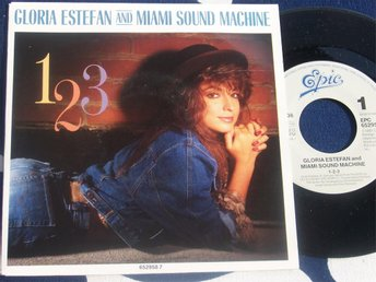 "GLORIA ESTEFAN & MIAMI SOUND MACHINE - 1 2 3 7"" 1987"