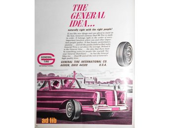 GENERAL TIRE INTERNATIONAL AKRON OHIO TIDNINGSANNONS Retro 1967