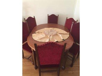 Matbord med 6 stolar i bra skick - Norrköping - Matbord med 6 stolar i bra skick - Norrköping
