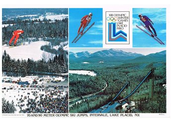 XIII OLYMPIC WINTER GAMES LAKE PLACID 1980 - SKI JUMPS - Bordstablett 29x44 cm