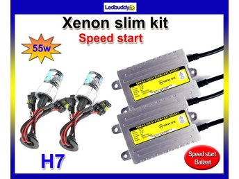Xenon 55W H7 6000k kit Speed start AC digital slim kit Fast Bright xenonkit 12v