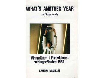 WHAT´S ANOTHER YEAR by Shay Healy. Nothäfte. Vinnarlåt 1980.