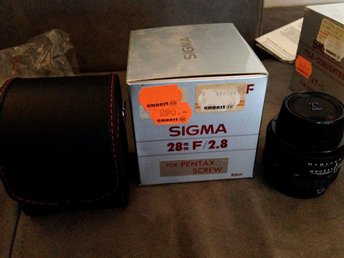 SIGMA 28MM F/2.8 OBJEKTIV FOR PENTAX SCREW TOPPSKICK OANVÄNT