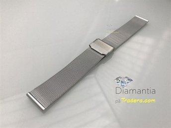 18 mm -- mesh länk -- NYTT -- klocklänk klockarmband -- milanese länk i stål - Boliden - 18 mm -- mesh länk -- NYTT -- klocklänk klockarmband -- milanese länk i stål - Boliden