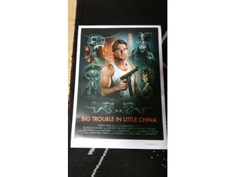 Big Trouble In Little China(1986)Film Poster Signerad av Konstnären Brian Taylor