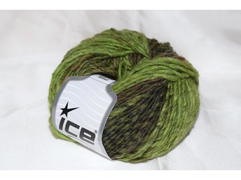 Virginia Wool, grön/brun, 50 g