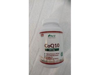 Coenzym Q10 100 mg 120 kapslar (Tillverkare: Nu U Nutrition) Made in UK