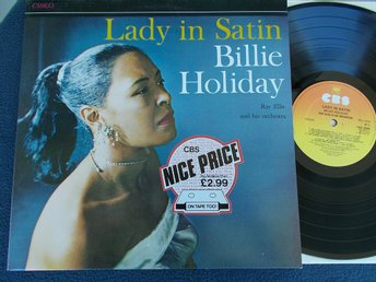 BILLIE HOLIDAY /Bob Ellis - Lady in Satin (1958), LP Re CBS UK 80-tal