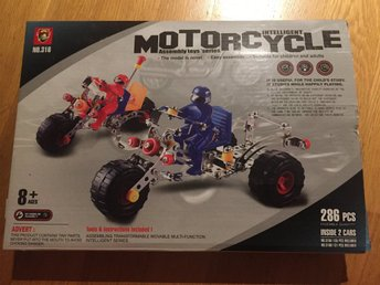 Intelligent motorcycle Assembly toys series ( Byggsats Mecano liknande )