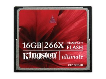 Kingston minneskort, 266x Ultimate CompactFlash (CF), 16GB