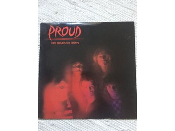 Proud-Fire Breaks the dawn/LP/Rare Swedish metal/Promo!/Exc!