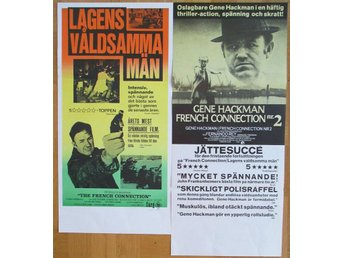 FRENCH CONNECTION 1 & 2 Stolpaffischer 1975/76! (Gene Hackman)