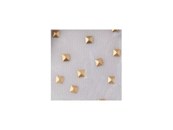 Charmsies Gold Pyramid Studs