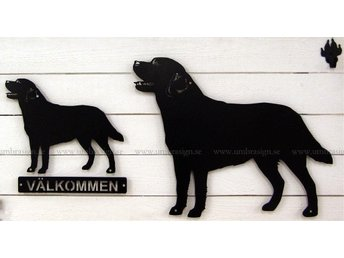 Labrador - smidesskylt, svart, 50 cm. - Storvreta - Labrador - smidesskylt, svart, 50 cm. - Storvreta