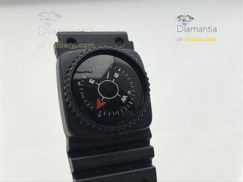 20 mm -- NYTT -- klockarmband med Kompass -- rubber gummi armband - svart - Boliden - 20 mm -- NYTT -- klockarmband med Kompass -- rubber gummi armband - svart - Boliden