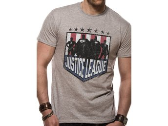 JUSTICE LEAGUE COMICS - SILHOUETTE SHIELD (UNISEX) - 2Extra Large