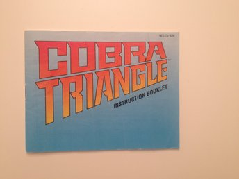 COBRA TRIANGLE - Nintendo Nes - Manual - SCN