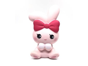 Original ibloom angel bunny squishy pink colour soft slow rising toys scented