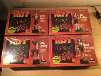 Kiss - Destroyer model kits komplett set , alla 4 sealed