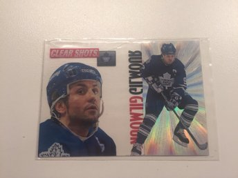 1995-96 Pinnacle - Clear Shots #6 - Doug Gilmour