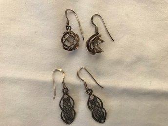 3 par örhängen i silver med stift (330486760) ᐈ Köp på Tradera 3c99daf8c09ab
