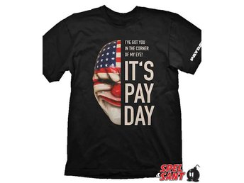 Payday 2 Dallas Mask Svart T-shirt (Medium)