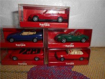 Leksaksbilar Herpa i original förpackning 5 st 1:87 - Halmstad - Leksaksbilar Herpa i original förpackning 5 st 1:87 - Halmstad