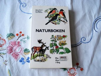 Naturboken Retro Bok Natur Illustrationer 1970-tal