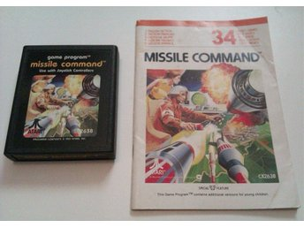 Missile Command  - Atari 2600 - Med manual